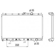 Радиатор охлаждения MITSUBISHI GALANT 92-96, 140130N (AKS DASIS)