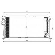 Радиатор кондиционера MITSUBISHI LANCER 03-, -142026N (AKS DASIS)