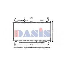 Радиатор охлаждения LEXUS GS - 210225N (AKS DASIS)
