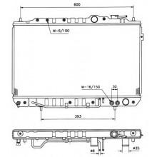 Радиатор охлаждения HYUNDAI ELANTRA - 560050N (AKS DASIS)
