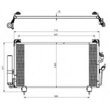 Радиатор кондиционера MITSUBISHI AIRTREK, OUTLANDER - 142028N (AKS DASIS)