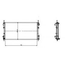 Радиатор охлаждения FORD TRANSIT - 250610N (AKS DASIS)