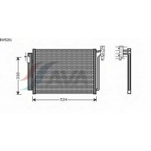 Радиатор кондиционера BMW X5 - BW5281 (AVA QUALITY COOLING)