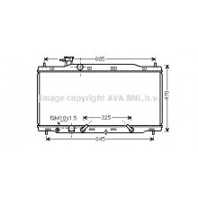 Радиатор охлаждения HONDA CR-V III (RE) / 2.4 - HD2269 (AVA QUALITY COOLING)