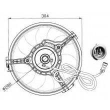 Вентилятор радиатора AUDI, VW, SEAT, FORD (POLCAR)