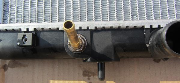 Новый радиатор переделанный под коробку автомат